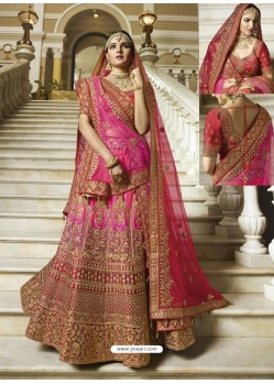 Rani Silk Heavy Embroidered Designer Wedding Lehenga Choli