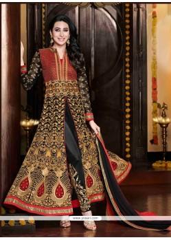 Karishma Kapoor Black Zari Work Pant Style Suit