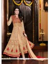 Karishma Kapoor Cream Georgette Pant Style Suit