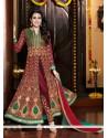 Karishma Kapoor Maroon Georgette Salwar Suit