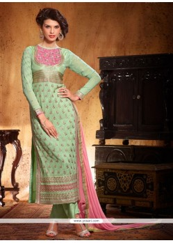 Jaaz Green Georgette Salwar Suit