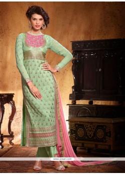 Jaaz Green Georgette Salwar Suit