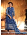 Splendid Blue Georgette Churidar Suit