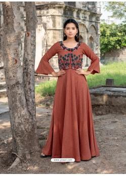 Rusty Cotton Readymade Designer Kurti