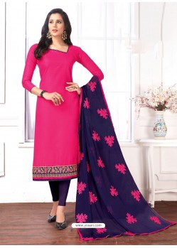 Rani Cotton Embroidered Churidar Suit