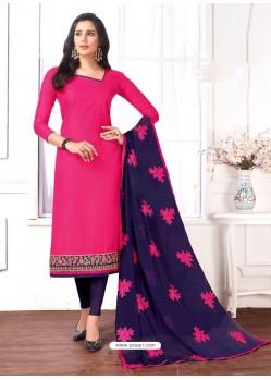 Rani Cotton Embroidered Churidar Suit