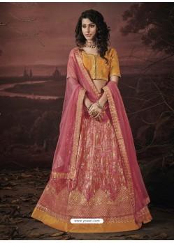 Hot Pink Fancy Heavy Embroidered Jacquard Designer Lehenga Choli