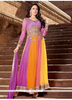 Elite Multicolor Net Anarkali Suit