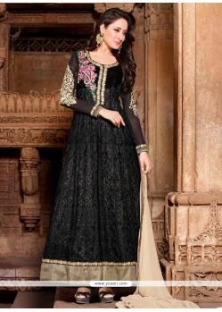 Celestial Black Georgette Anarkali Suit