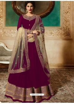 Purple Georgette Embroidered Designer Anarkali Suit