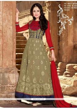 Stunning Brown Shaded Georgette Designer Anarkali Suit