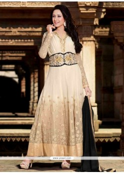 Jaaz Cream Georgette Designer Anarkali Suit