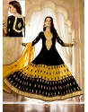 Splendid Black Georgette Anarkali Suit