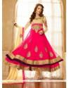 Lovely Pink Georgette Anarkali Salwar Suit