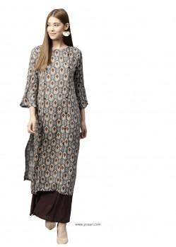 Multi Colour Rayon Designer Readymade Kurti