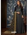 Carbon Art Silk Hand Worked Designer Gown Style Suit
