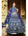 Royal Blue Silk Embroidered Lehenga Choli
