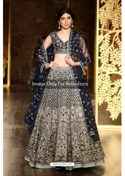 Black Silk Embroidered Lehenga Choli