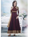 Miraculous Wine Georgette Anarkali Suit