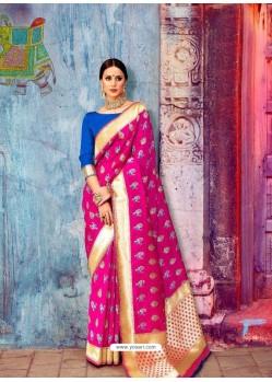 Rani Banarasi Silk Jaquard Work Designer Saree