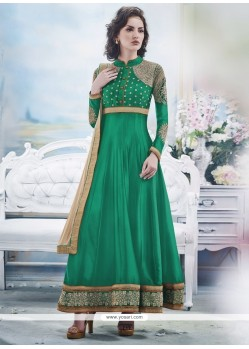 Latest Green Georgette Anarkali Suit