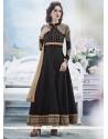 Tantalizing Black Georgette Anarkali Suit