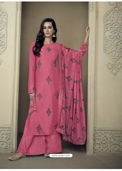 Rani Upada Silk Thread Embroidered Palazzo Suit