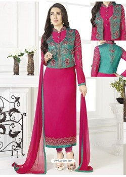 Rani Georgette Designer Churidar Suit
