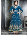 Ombre Blue Georgette Designer Anarkali Suit