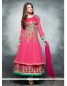 Fabulose Hot Pink Georgette Anarkali Suit