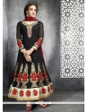 Stupendous Black Georgette Anarkali Suit