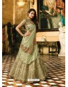 Olive Green Banarasi Silk Heavy Embroidered Designer Lehenga Choli