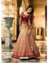 Beige Silk Heavy Embroidered Designer Lehenga Choli
