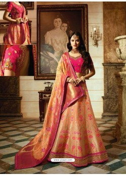 Rani Banarasi Silk Heavy Embroidered Designer Lehenga Choli
