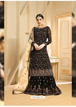 Black Heavy Embroidered Designer Sarara Suit