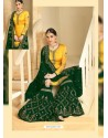 Yellow And Green Heavy Embroidered Designer Sarara Suit