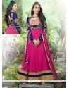 Karishma Kapoor Pink Net Designer Anarkali Suit