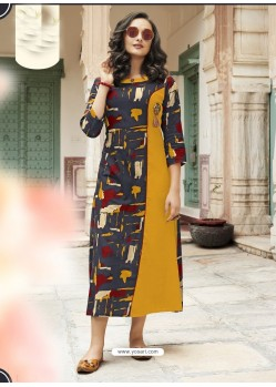 Desirable Multi Colour Heavy Rayon Digital Printed Kurti