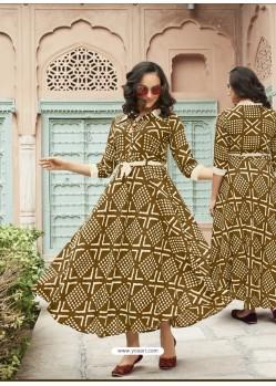 Fashionable Multi Colour Heavy Rayon Digital Printed Kurti