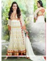 Karishma Kapoor White Net And Georgette Anarkali Suit