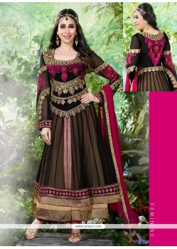 Karishma Kapoor Black Net Anarkali Suit