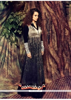 Kangana Ranaut Black Georgette Anarkali Suit