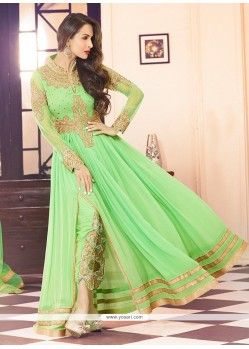 Malaika Arora Khan Sea Green Georgette Anarkali Suit