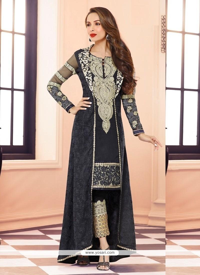 Malaika Arora Khan Black Pant Style Salwar Suit