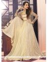 Malaika Arora Khan Cream Net Anarkali Suit