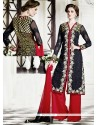 Classy Black Georgette Designer Palazzo Suit