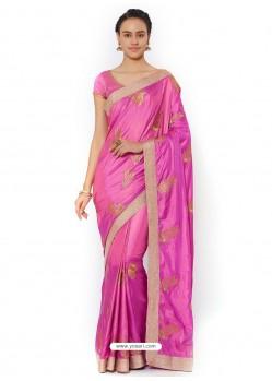 Magenta Silk Blend Saree