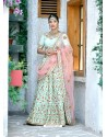 Sea Green Silk Embroidered Designer Lehenga Choli