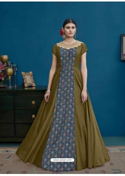 Mehendi Thapa Silk Printed Floor Length Suit