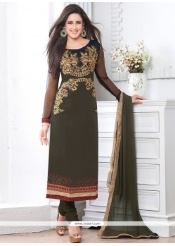 Pretty Green Georgette Churidar Salwar Kameez